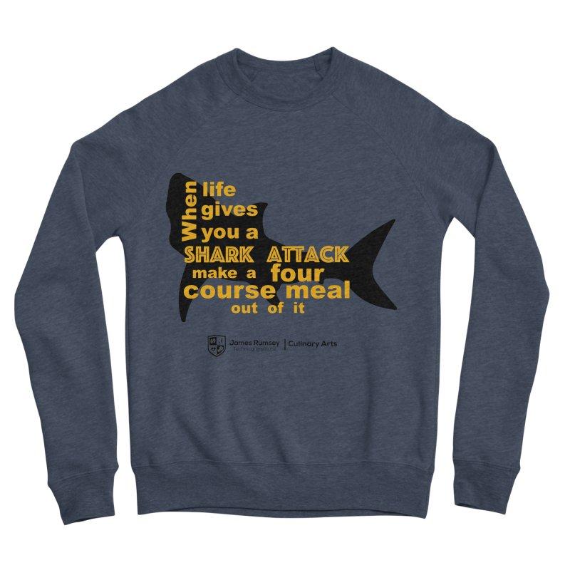 Shark Attack - Culinary Arts Men's Sponge Fleece Sweatshirt by James Rumsey Technical Institute
