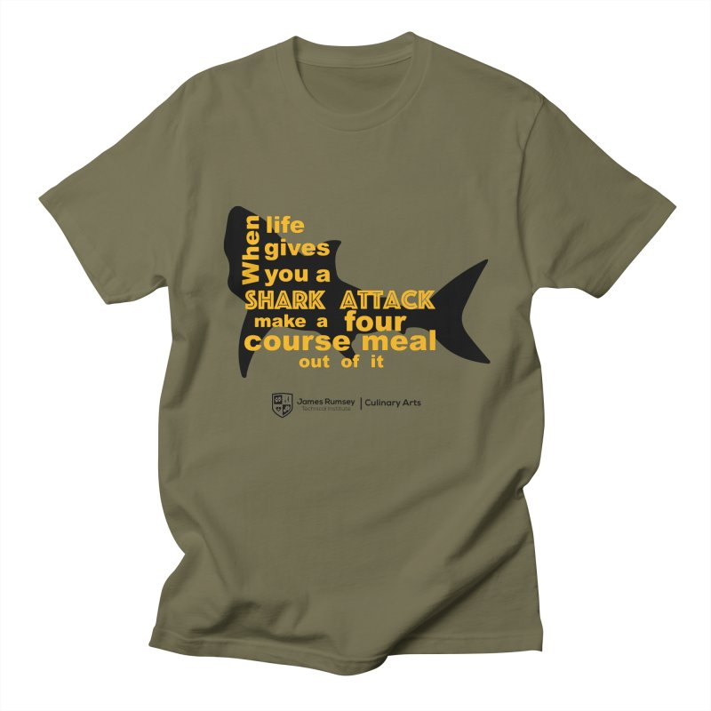Shark Attack - Culinary Arts Men's Regular T-Shirt by James Rumsey Technical Institute