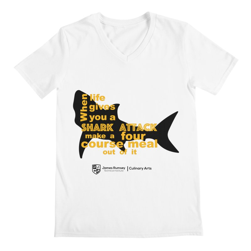 Shark Attack - Culinary Arts Men's V-Neck by James Rumsey Technical Institute