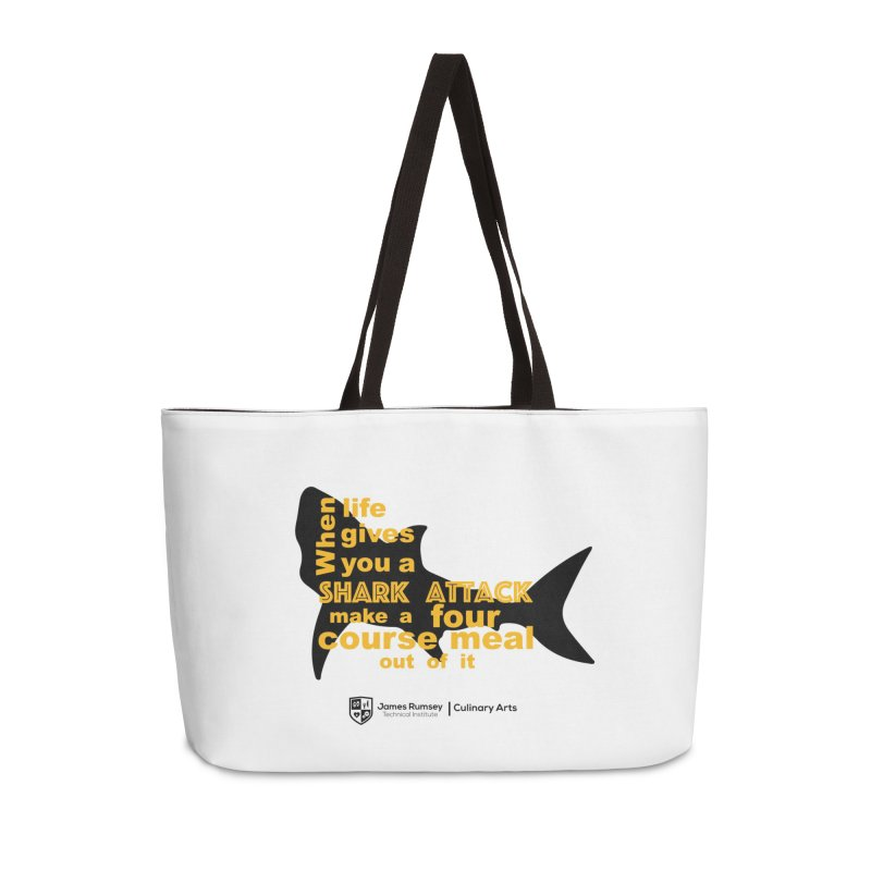 Shark Attack - Culinary Arts Accessories Weekender Bag Bag by James Rumsey Technical Institute