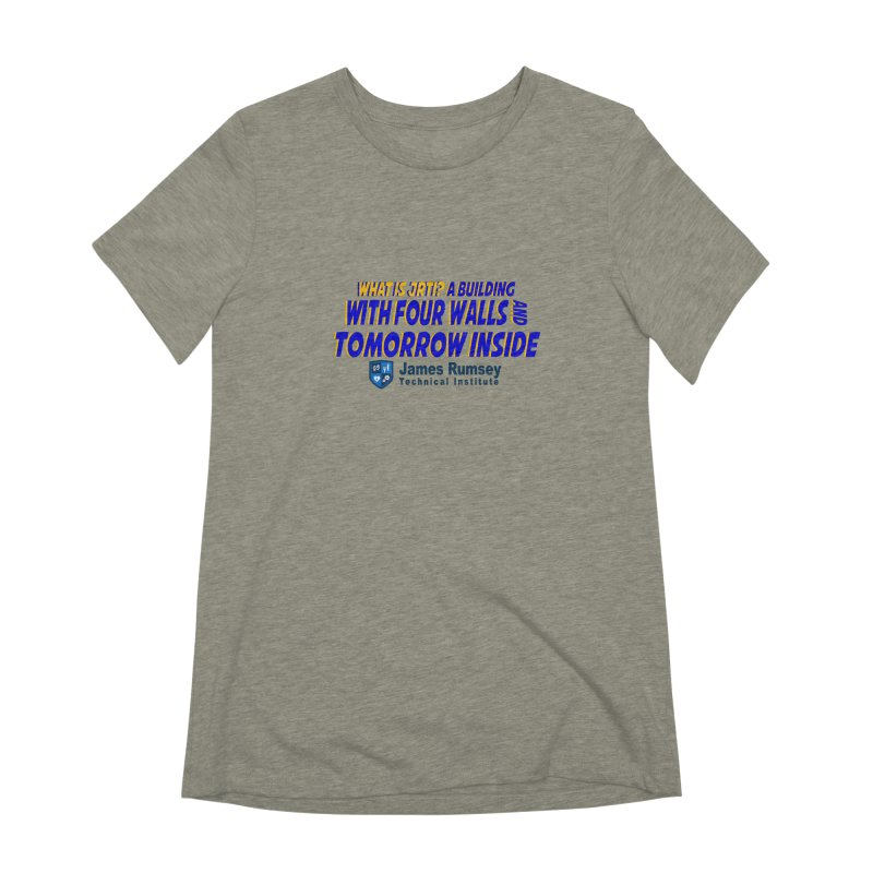 Four Walls And Tomorrow Inside Women's Extra Soft T-Shirt by James Rumsey Technical Institute