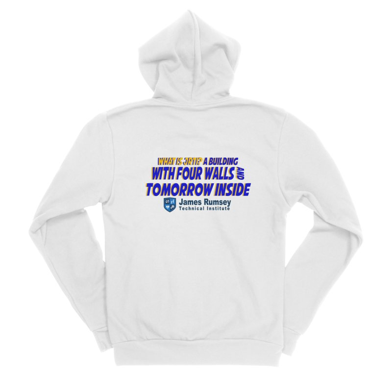 Four Walls And Tomorrow Inside Men's Sponge Fleece Zip-Up Hoody by James Rumsey Technical Institute