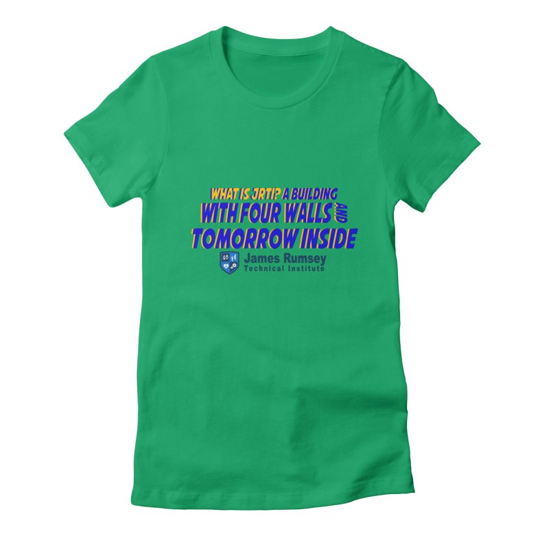 Four Walls And Tomorrow Inside Women's Fitted T-Shirt by James Rumsey Technical Institute