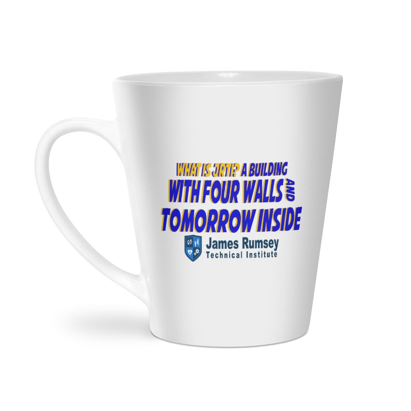 Four Walls And Tomorrow Inside Accessories Latte Mug by James Rumsey Technical Institute