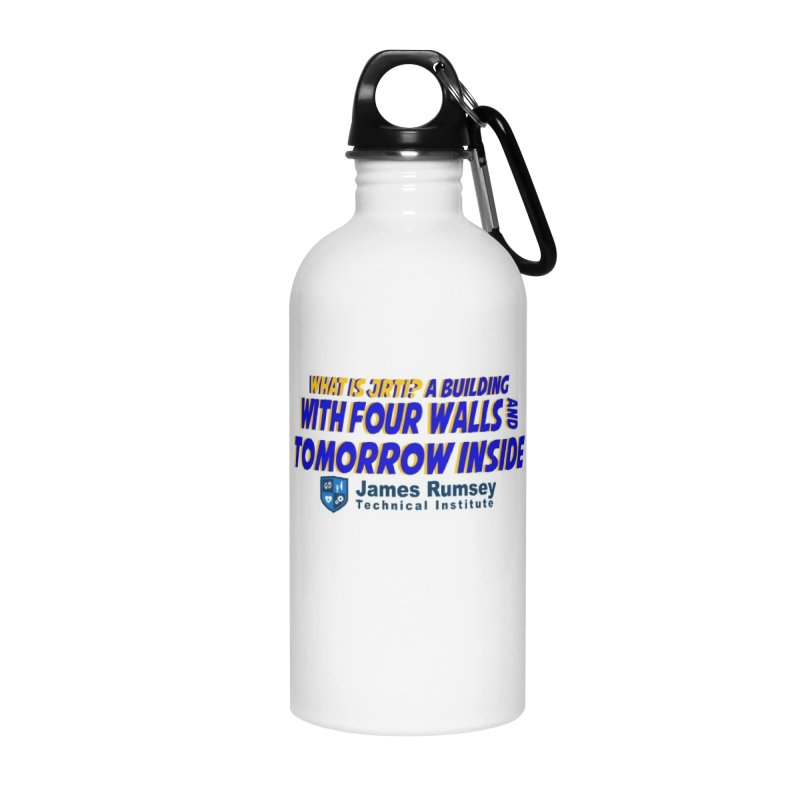 Four Walls And Tomorrow Inside Accessories Water Bottle by James Rumsey Technical Institute