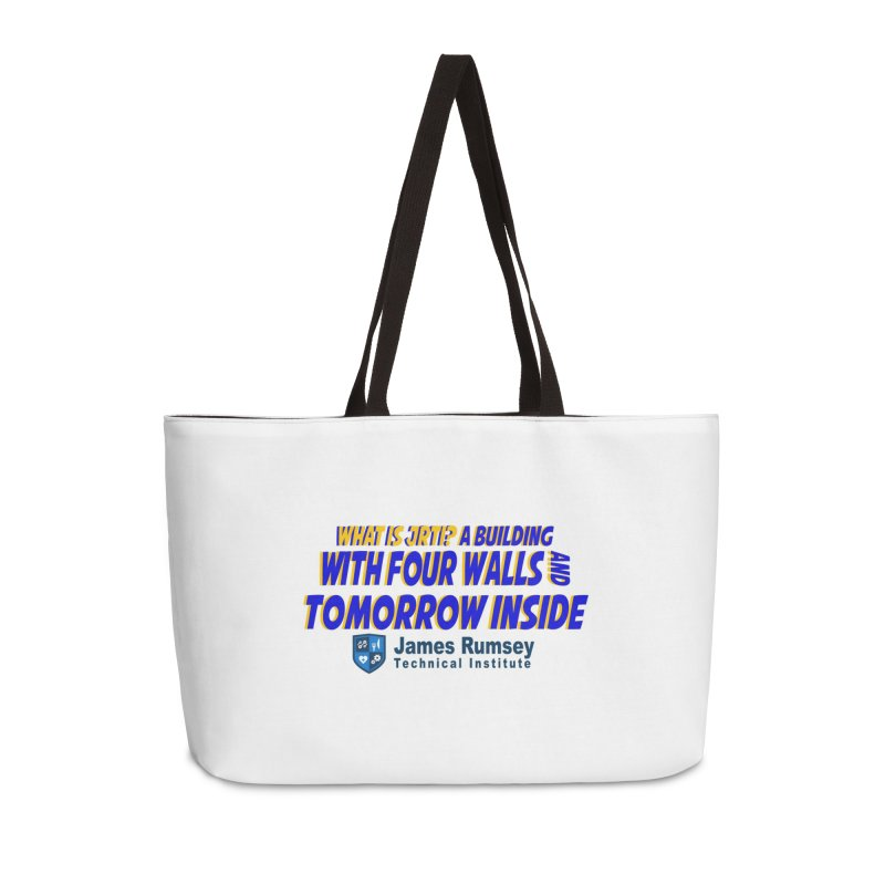Four Walls And Tomorrow Inside Accessories Weekender Bag Bag by James Rumsey Technical Institute