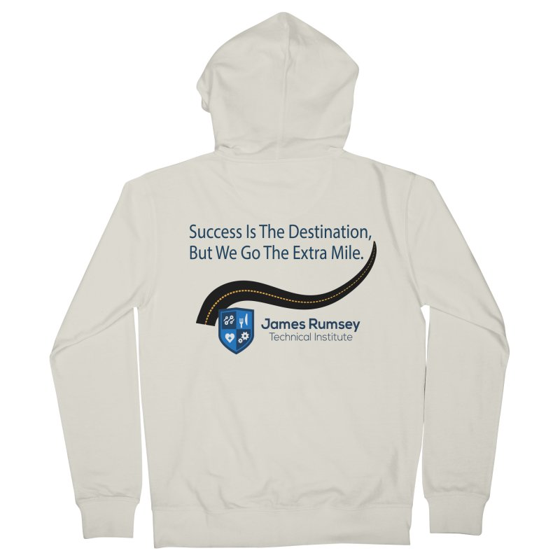 The Extra Mile Men's French Terry Zip-Up Hoody by James Rumsey Technical Institute