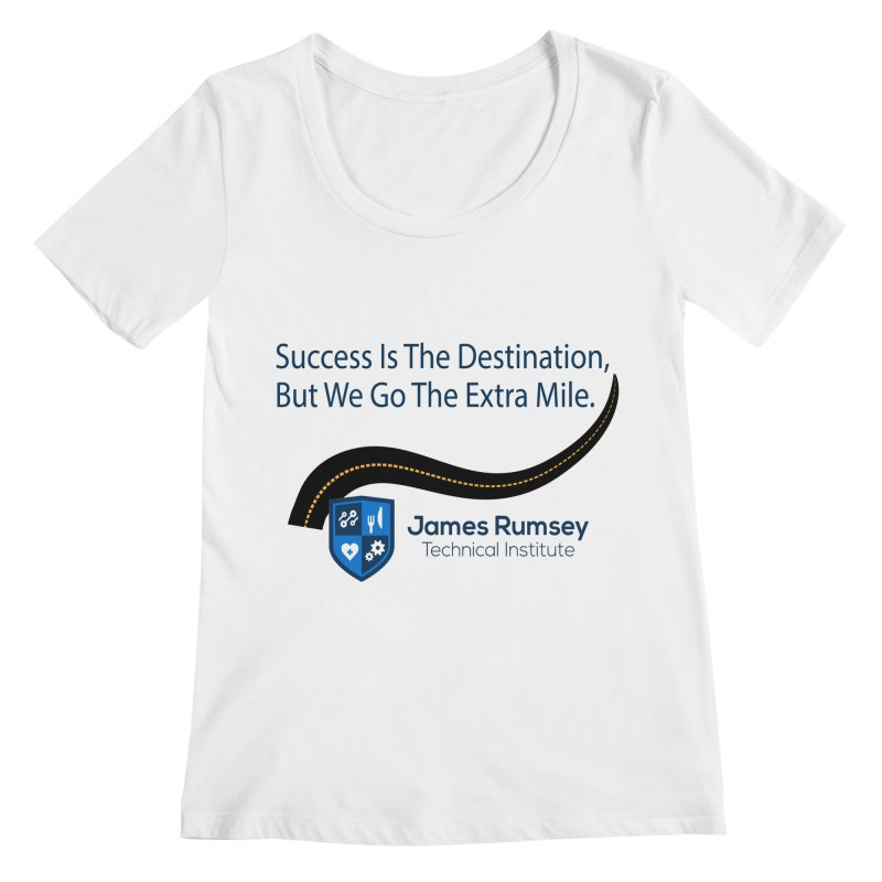The Extra Mile Women's Regular Scoop Neck by James Rumsey Technical Institute