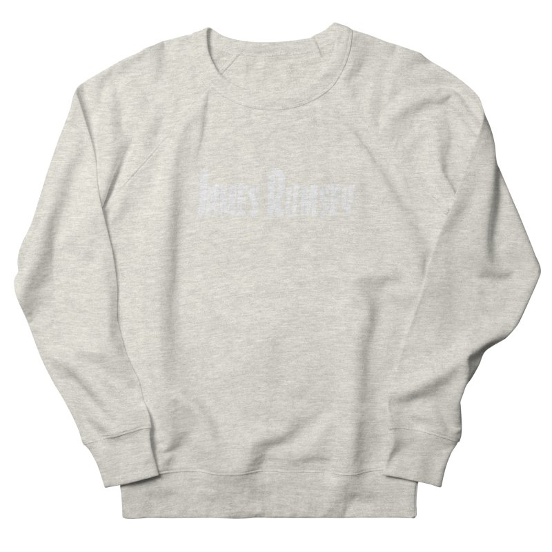 Thrasher - white print Men's French Terry Sweatshirt by James Rumsey Technical Institute