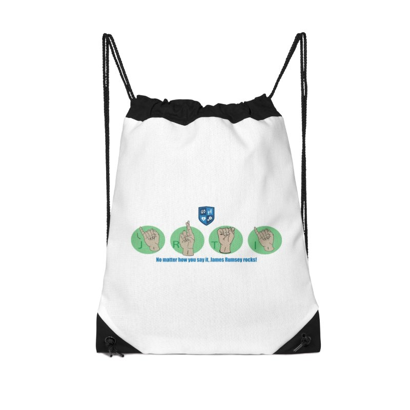 Sign Language Accessories Drawstring Bag Bag by James Rumsey Technical Institute