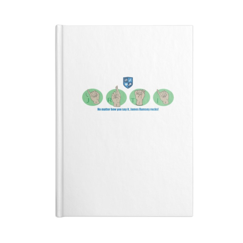 Sign Language Accessories Lined Journal Notebook by James Rumsey Technical Institute