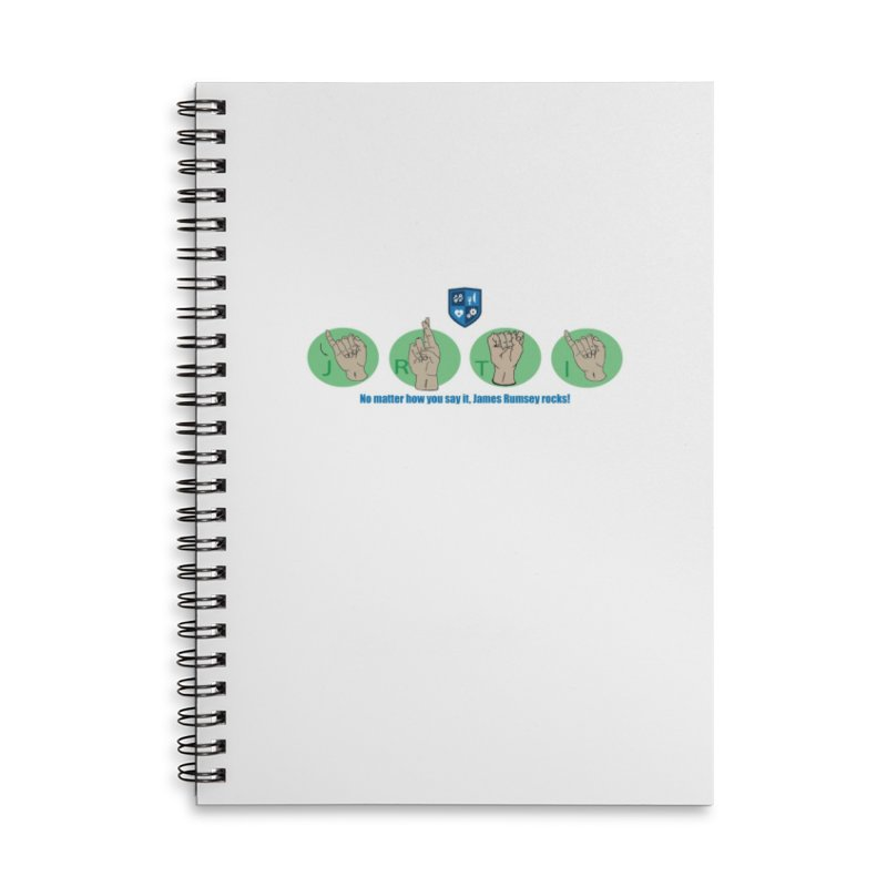 Sign Language Accessories Lined Spiral Notebook by James Rumsey Technical Institute