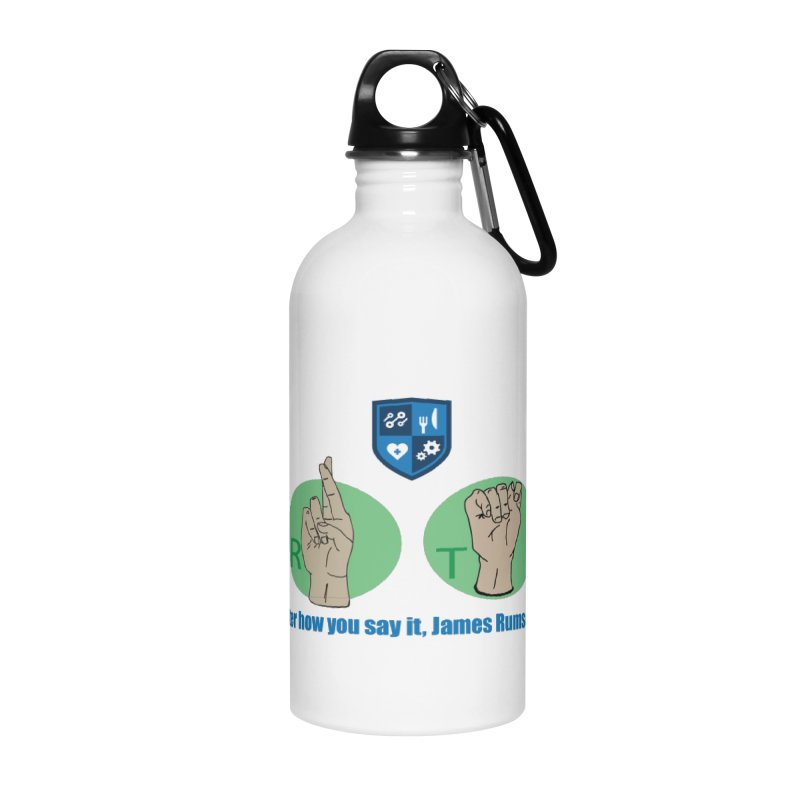 Sign Language Accessories Water Bottle by James Rumsey Technical Institute