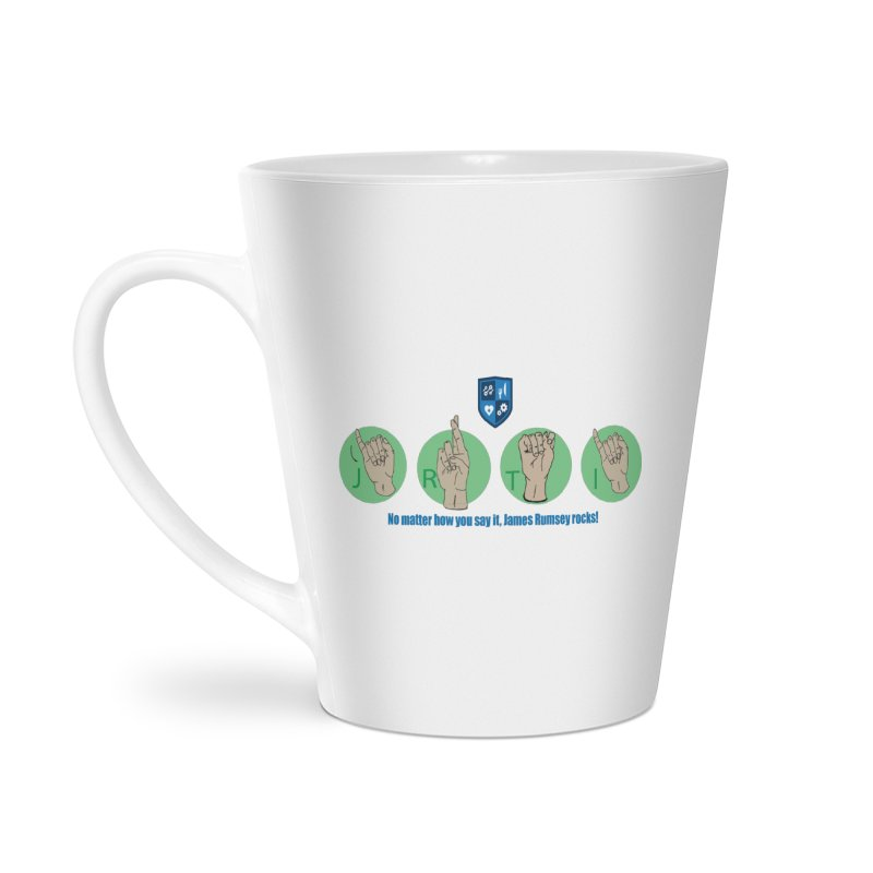 Sign Language Accessories Latte Mug by James Rumsey Technical Institute