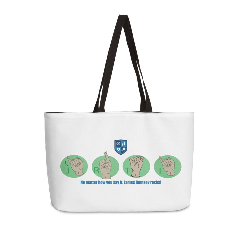 Sign Language Accessories Weekender Bag Bag by James Rumsey Technical Institute