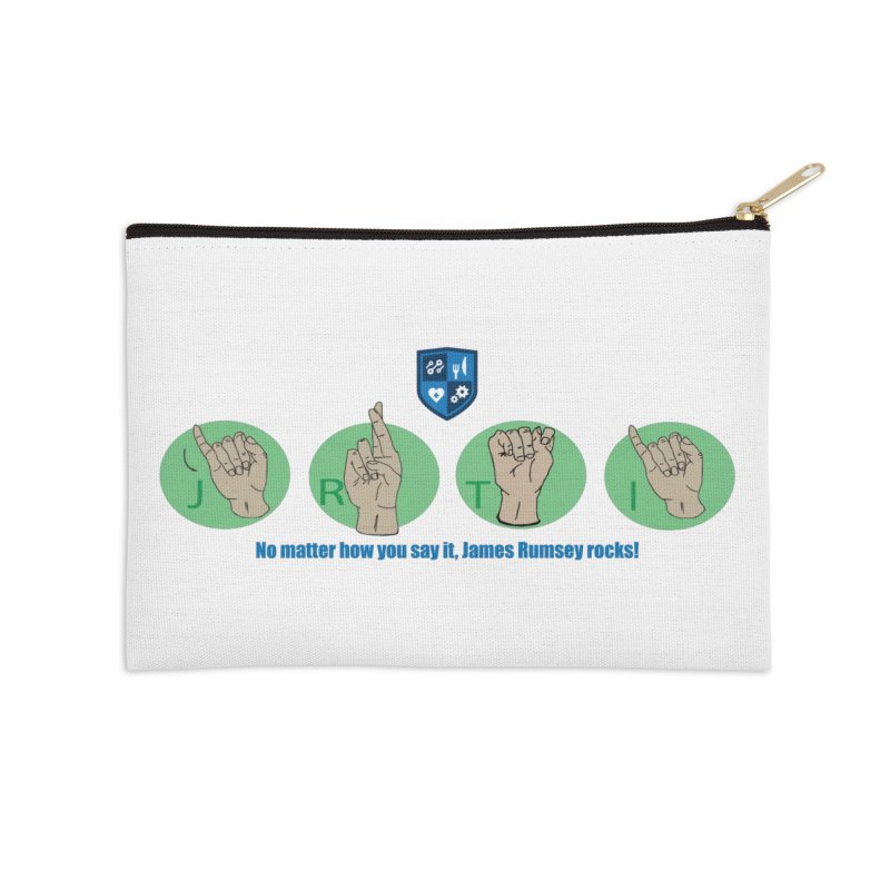 Sign Language Accessories Zip Pouch by James Rumsey Technical Institute