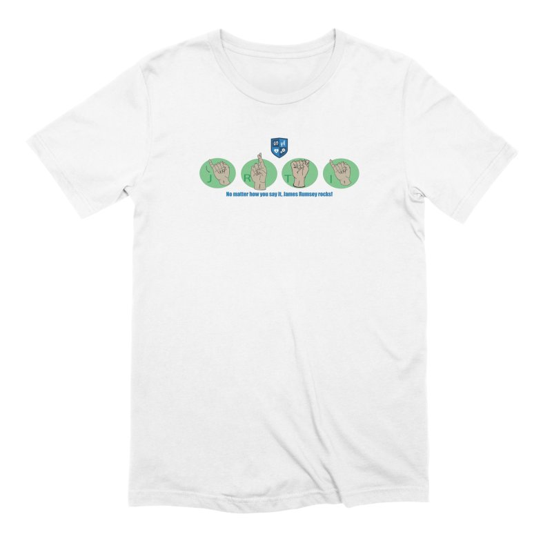 Sign Language Men's Extra Soft T-Shirt by James Rumsey Technical Institute
