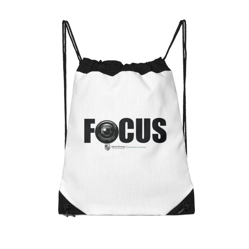 Focus Accessories Drawstring Bag Bag by James Rumsey Technical Institute