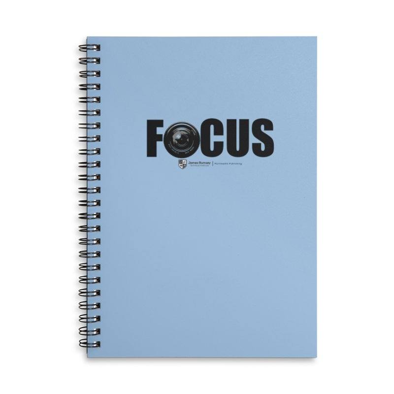 Focus Accessories Lined Spiral Notebook by James Rumsey Technical Institute