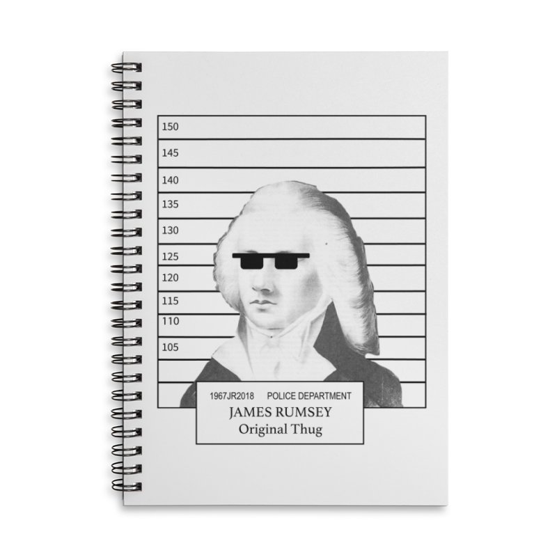 Original Thug Accessories Lined Spiral Notebook by James Rumsey Technical Institute