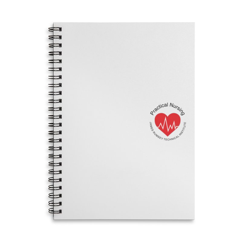 Heart - Practical Nursing Accessories Lined Spiral Notebook by James Rumsey Technical Institute