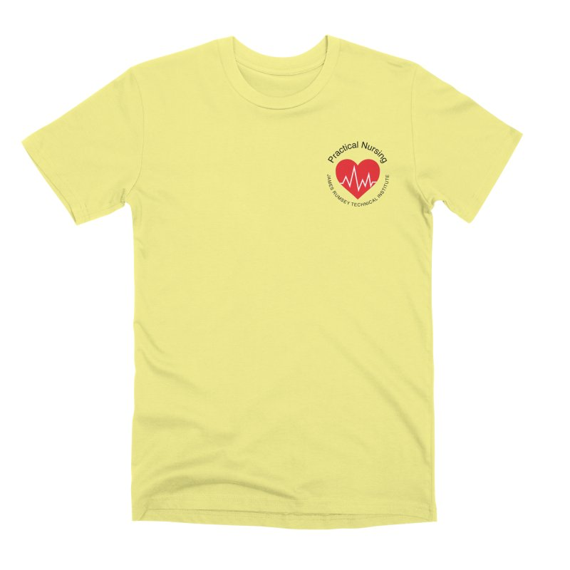 Heart - Practical Nursing Men's Premium T-Shirt by James Rumsey Technical Institute