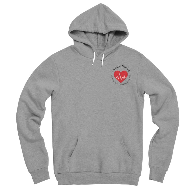 Heart - Practical Nursing Men's Sponge Fleece Pullover Hoody by James Rumsey Technical Institute