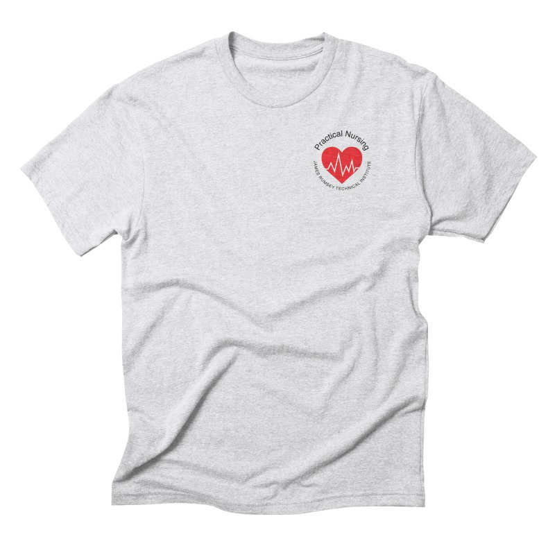 Heart - Practical Nursing Men's Triblend T-Shirt by James Rumsey Technical Institute