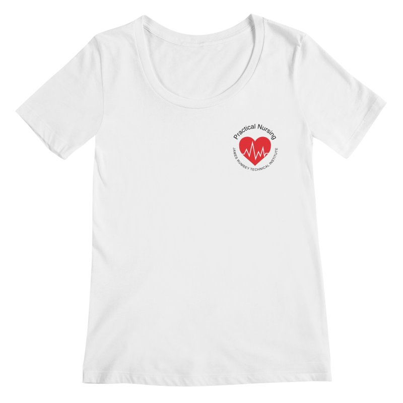 Heart - Practical Nursing Women's Regular Scoop Neck by James Rumsey Technical Institute