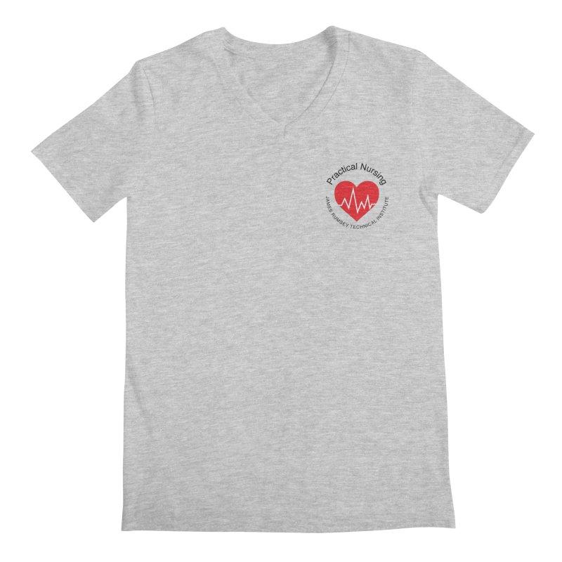 Heart - Practical Nursing Men's Regular V-Neck by James Rumsey Technical Institute