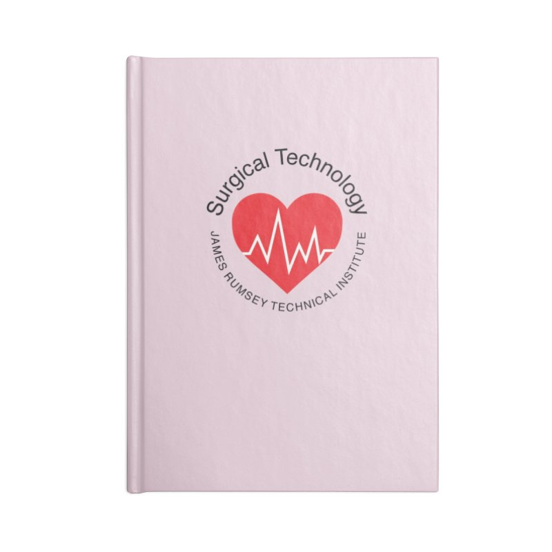 Heart - Surgical Technology Accessories Lined Journal Notebook by James Rumsey Technical Institute