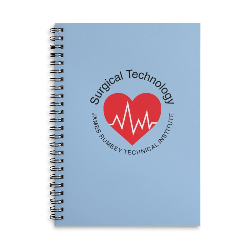 Heart - Surgical Technology Accessories Lined Spiral Notebook by James Rumsey Technical Institute