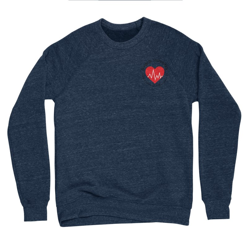 Heart - Surgical Technology Men's Sponge Fleece Sweatshirt by James Rumsey Technical Institute