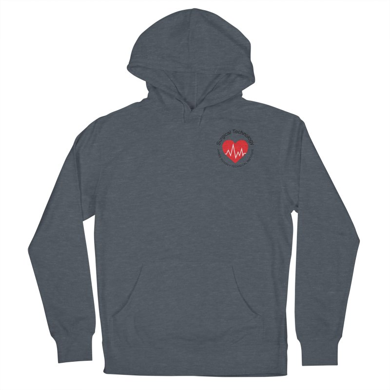 Heart - Surgical Technology Men's French Terry Pullover Hoody by James Rumsey Technical Institute