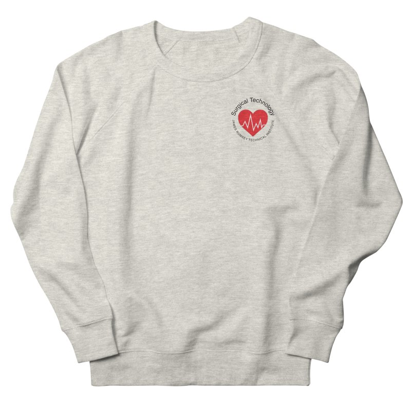 Heart - Surgical Technology Men's French Terry Sweatshirt by James Rumsey Technical Institute