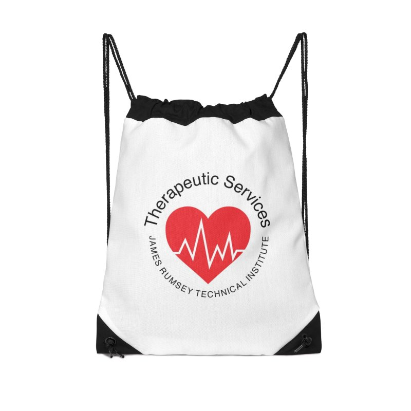 Heart - Therapeutic Services Accessories Drawstring Bag Bag by James Rumsey Technical Institute