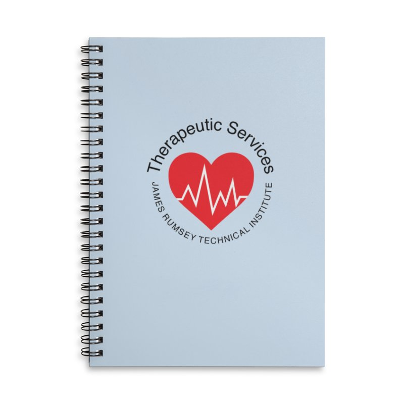 Heart - Therapeutic Services Accessories Lined Spiral Notebook by James Rumsey Technical Institute