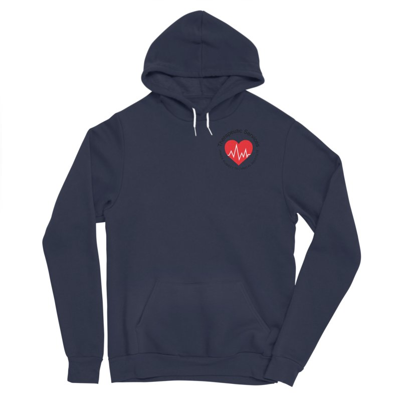 Heart - Therapeutic Services Men's Sponge Fleece Pullover Hoody by James Rumsey Technical Institute