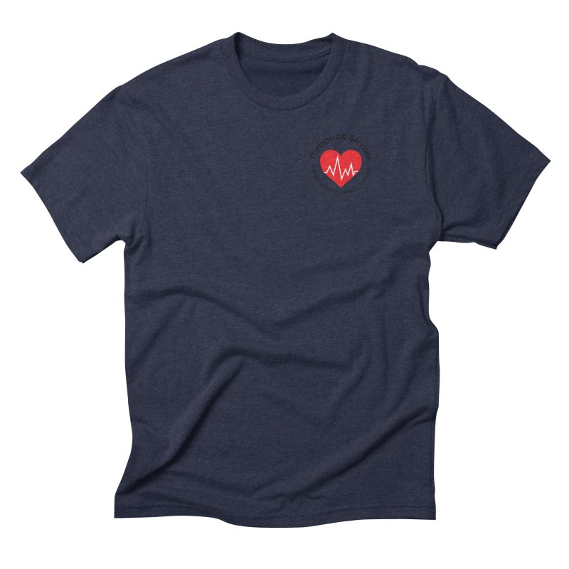 Heart - Therapeutic Services Men's Triblend T-Shirt by James Rumsey Technical Institute