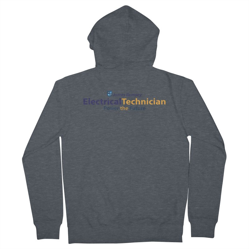 Electrical Technician Men's French Terry Zip-Up Hoody by James Rumsey Technical Institute