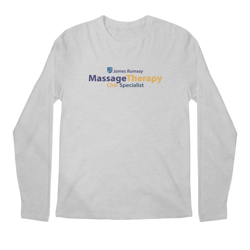 Massage Therapy Men's Regular Longsleeve T-Shirt by James Rumsey Technical Institute