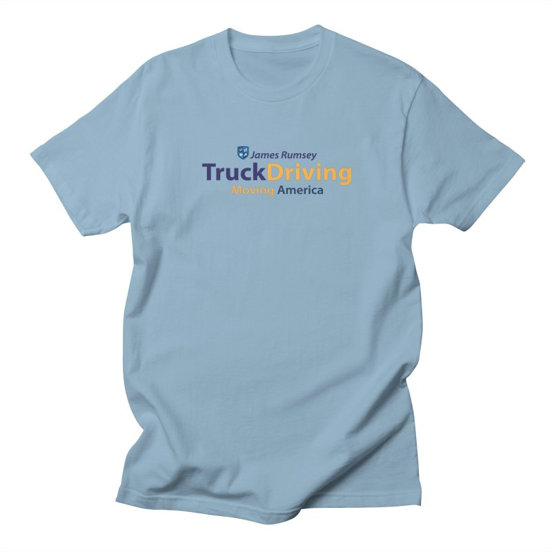 Truck Driving Men's Regular T-Shirt by James Rumsey Technical Institute