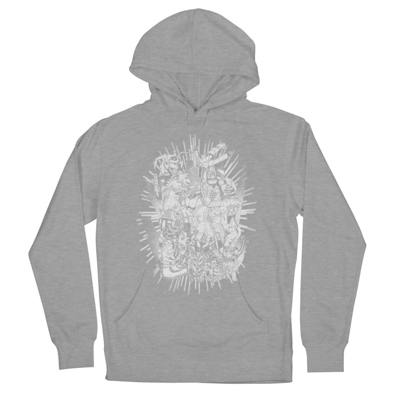 BOTS VS. KAIJUS- Black and White version Women's Pullover Hoody by jrtoyman's Artist Shop