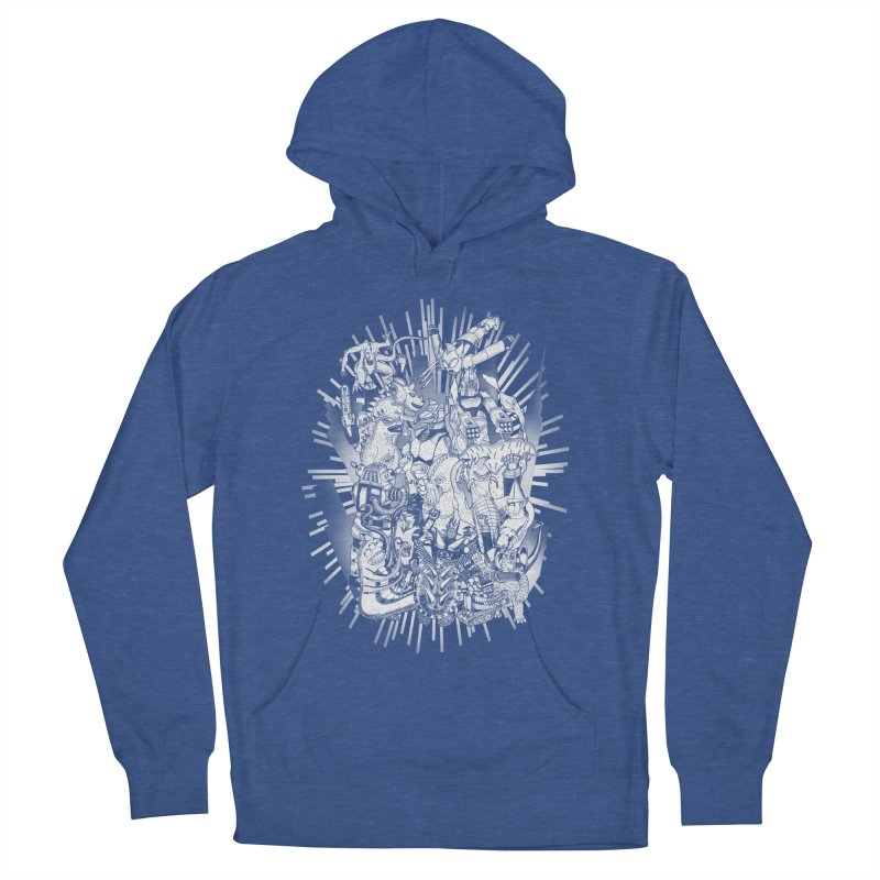 BOTS VS. KAIJUS- Black and White version Men's Pullover Hoody by jrtoyman's Artist Shop
