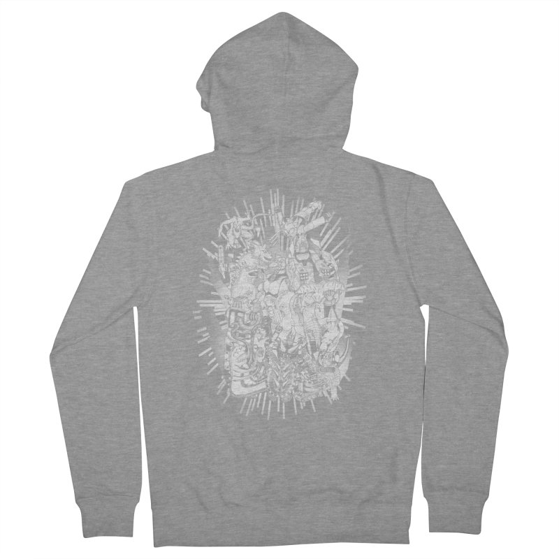 BOTS VS. KAIJUS- Black and White version Women's Zip-Up Hoody by jrtoyman's Artist Shop