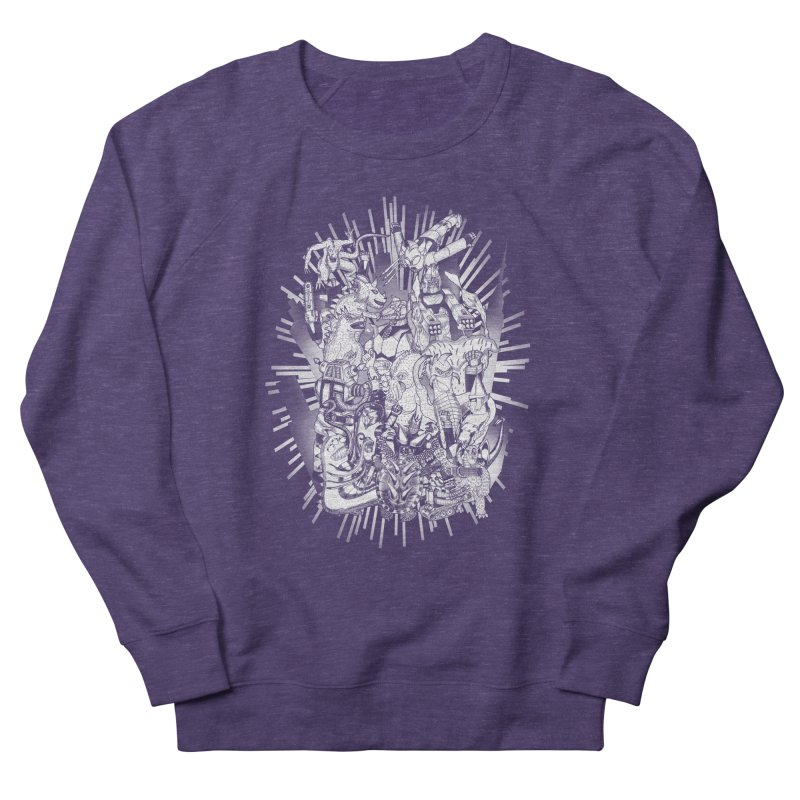 BOTS VS. KAIJUS- Black and White version Men's Sweatshirt by jrtoyman's Artist Shop