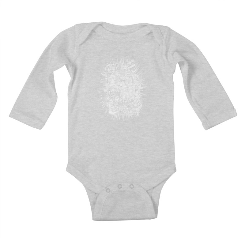 BOTS VS. KAIJUS- Black and White version Kids Baby Longsleeve Bodysuit by jrtoyman's Artist Shop