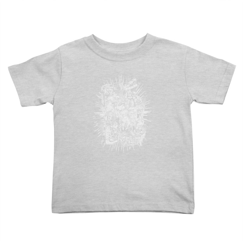 BOTS VS. KAIJUS- Black and White version Kids Toddler T-Shirt by jrtoyman's Artist Shop
