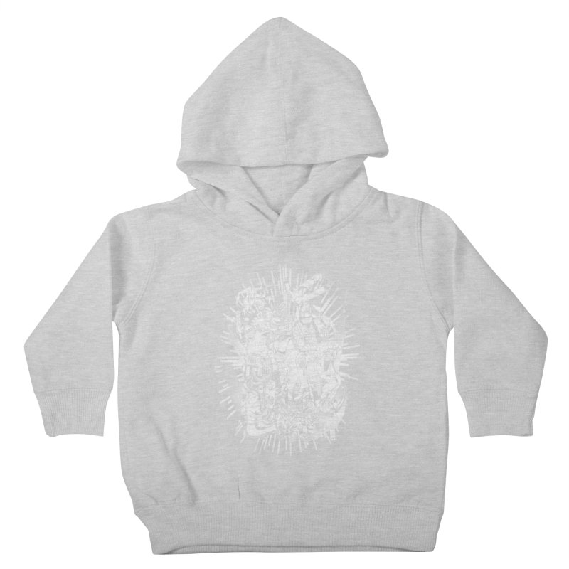 BOTS VS. KAIJUS- Black and White version Kids Toddler Pullover Hoody by jrtoyman's Artist Shop