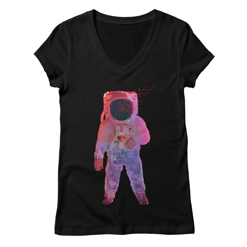 INNER SPACE Women's V-Neck by jrtoyman's Artist Shop
